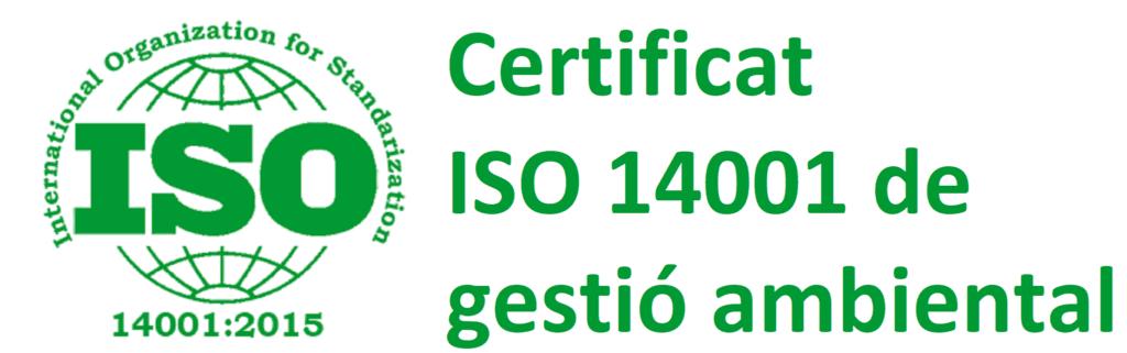 Certificat ISO 14001 de gestió ambiental